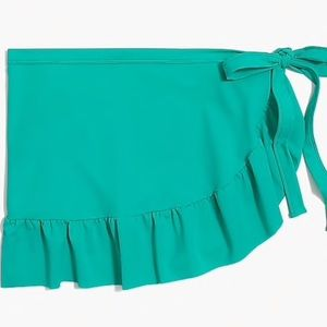 J Crew swim cover up wrap skirt